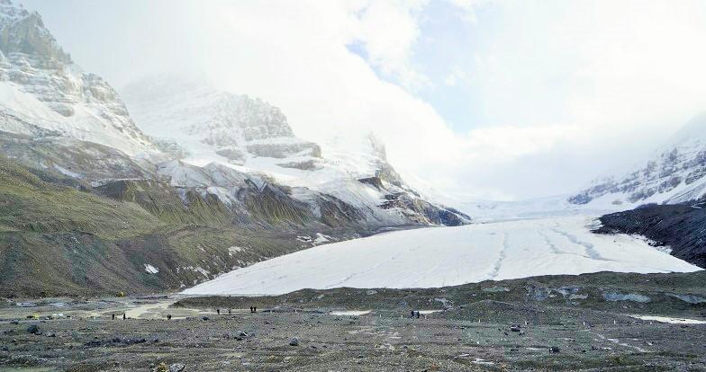 빙하의 장관이 펼쳐지는 컬럼비아 아이스필드